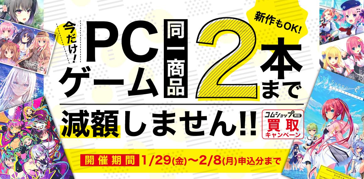 PCゲーム 同一商品2本まで減額しませんキャンペーン